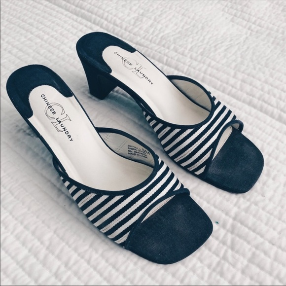 c814680f7163 Chinese Laundry Shoes - CL BY CHINESE LAUNDRY STRIPE HEEL SANDALS